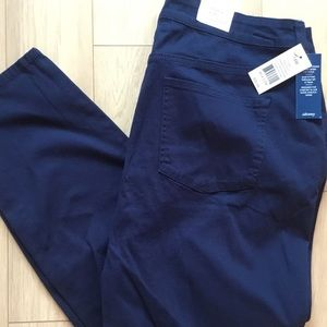 NWT Crown & Ivy Women's Sz 18W Navy Pants